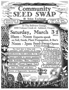 Ashland Community Seed Swap March 2018