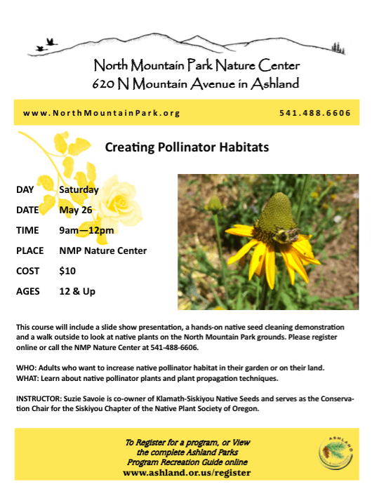 Ashland North Mountain Park Creating Pollinator Habitat Class