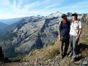 Luke and Suzie in the Trinity Alps Wilderness